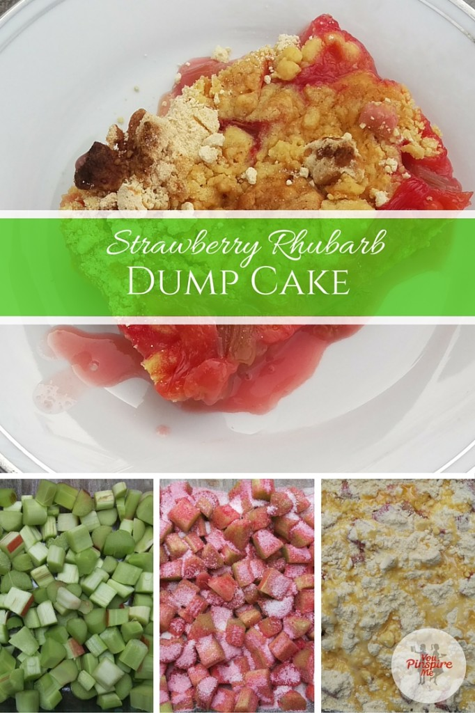 Strawberry Rhubarb Dump Cake