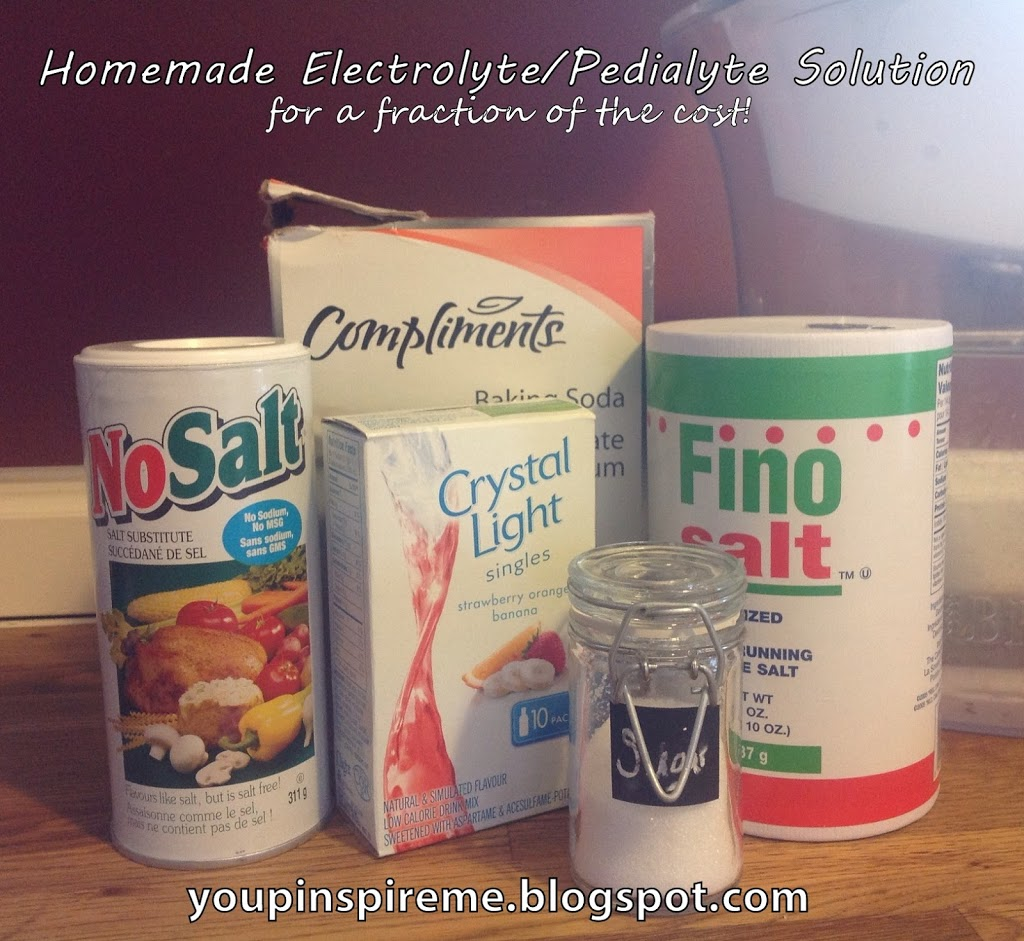 Oral Rehydration Solution (Homemade Pedialyte/Electrolyte Subsitute) - You Pinspire Me
