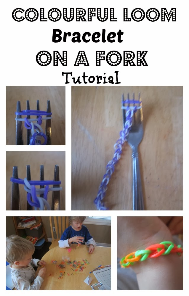 Loom Bracelet On A Fork {Tutorial}