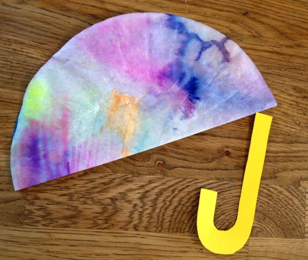 Rainy Day Craft Coffee Filter Umbrellas Perfect For Toddlers Preschoolers Just