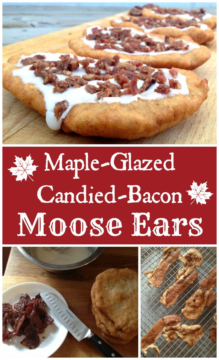 Maple Glazed Candied Bacon Moose Ears {The Home made version of the popular Canadian Treat Beaver Tails}