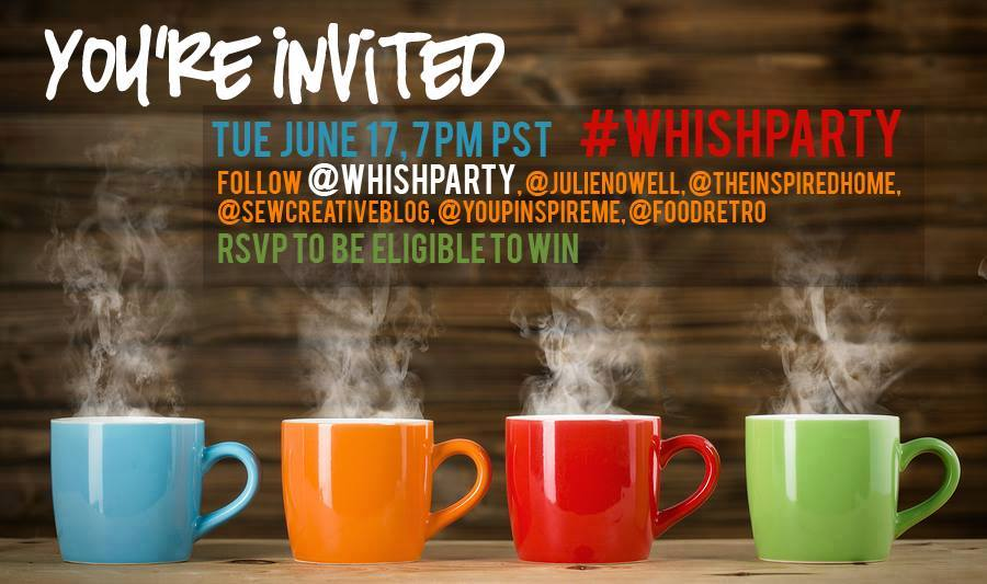 Twitter Party: #WhishParty, June 17, 7pm PST / 10pm EST - $300 in prizes to be won!