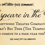 Shakespeare in the Park Ontario, Canada