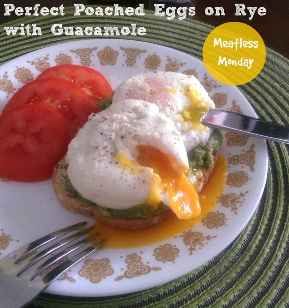 Poached Eggs on Rye with Guacamole