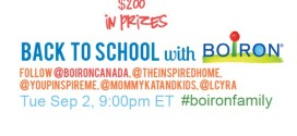 Twitter Party Time! Stay Healthy through Back to School: #BoironFamily Sep. 2, 9pm EST