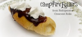 Campfire Eclairs from Refrigerator Crescent Rolls