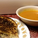 Roasted Tomato Soup & 3 Cheese Grilled Cheese Sandwich #MeatlessMonday