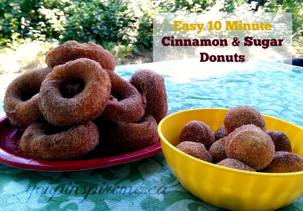 Easy Cinnamon & Sugar Donuts: A perfect treat for Camping food!