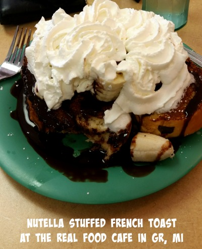 Nutella Stuffed French Toast at the Real Food Cafe in Grand Rapids, Michigan
