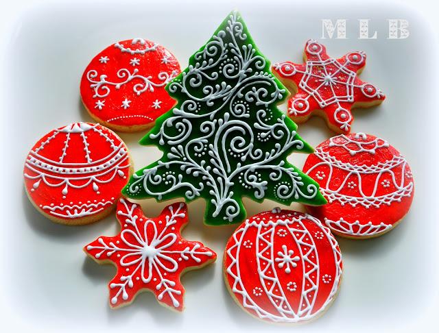 Ornate Christmas Cookies with a Polish Glaze