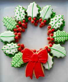 Sugar Cookie Christmas Wreath