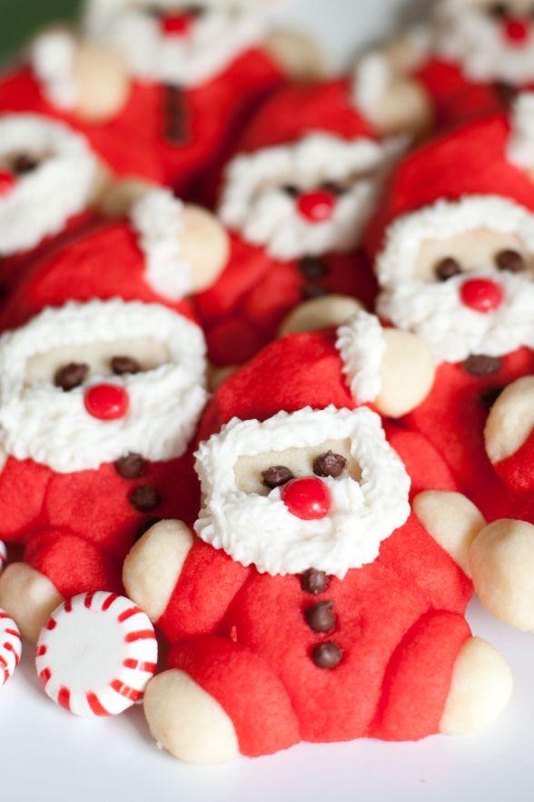 Roly Poly Santa Sugar Cookies