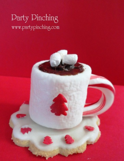 Mini Hot Cocoa Cups from Marshmallows
