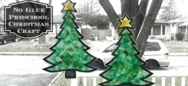 Easy Preschool Christmas Crafts: Stained Glass Christmas Tree