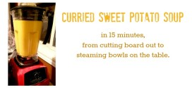 Curried Sweet Potato Soup in 15 minutes