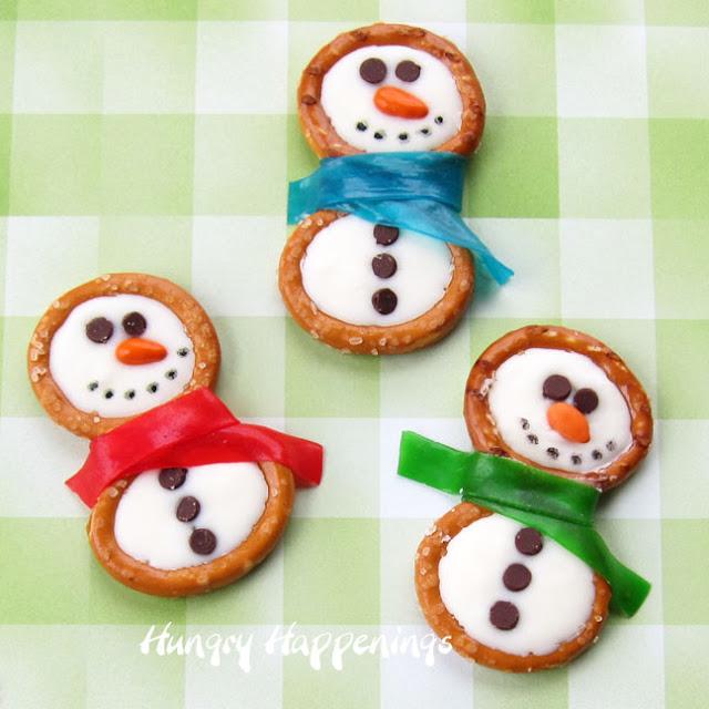 Pretzel Snowmen Christmas Treats