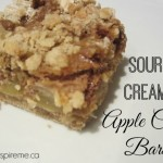 Sour Cream Apple Crisp Bars