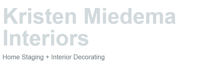 Kristen Miedema Interiors: Home Staging in Hamilton