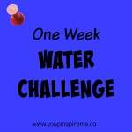 One Week Water Challenge #DrinkYourWater