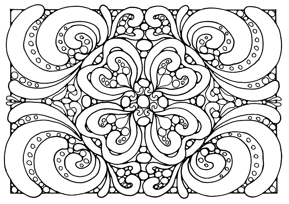 free printable colouring pages for adults - Easy Printable Coloring Pages