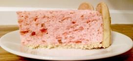 No Bake Rhubarb Torte