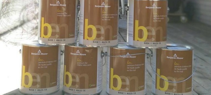 Benjamin Moore paint line for home staging and house flipping: 'ben'