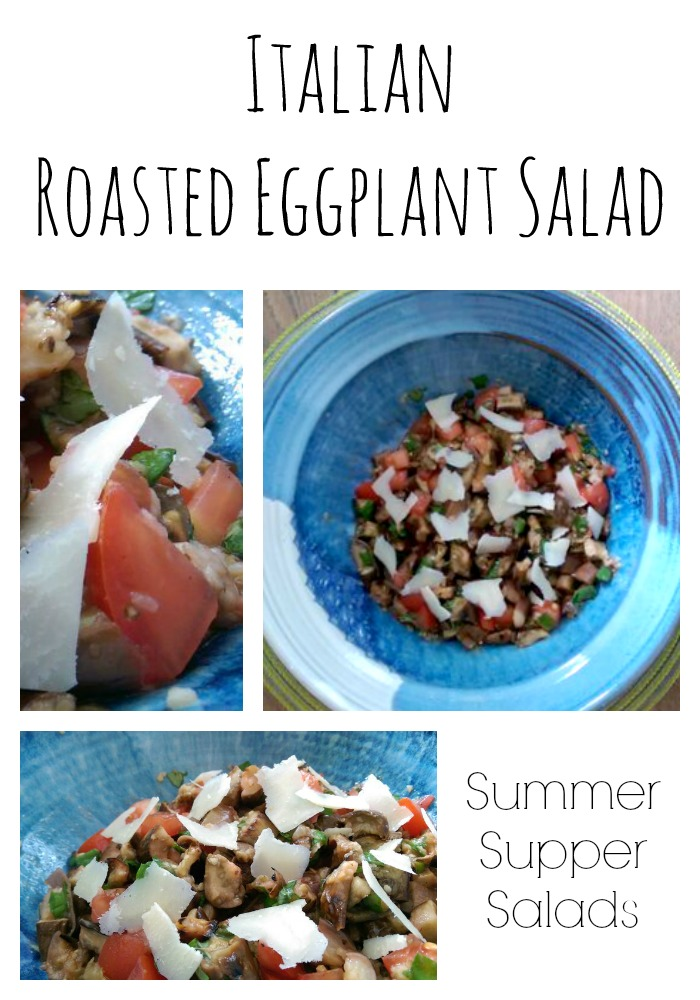 Summer Supper Ideas: Roasted Eggplant Salad - easy summer supper salad