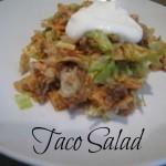 Taco salad - perfect for picnics