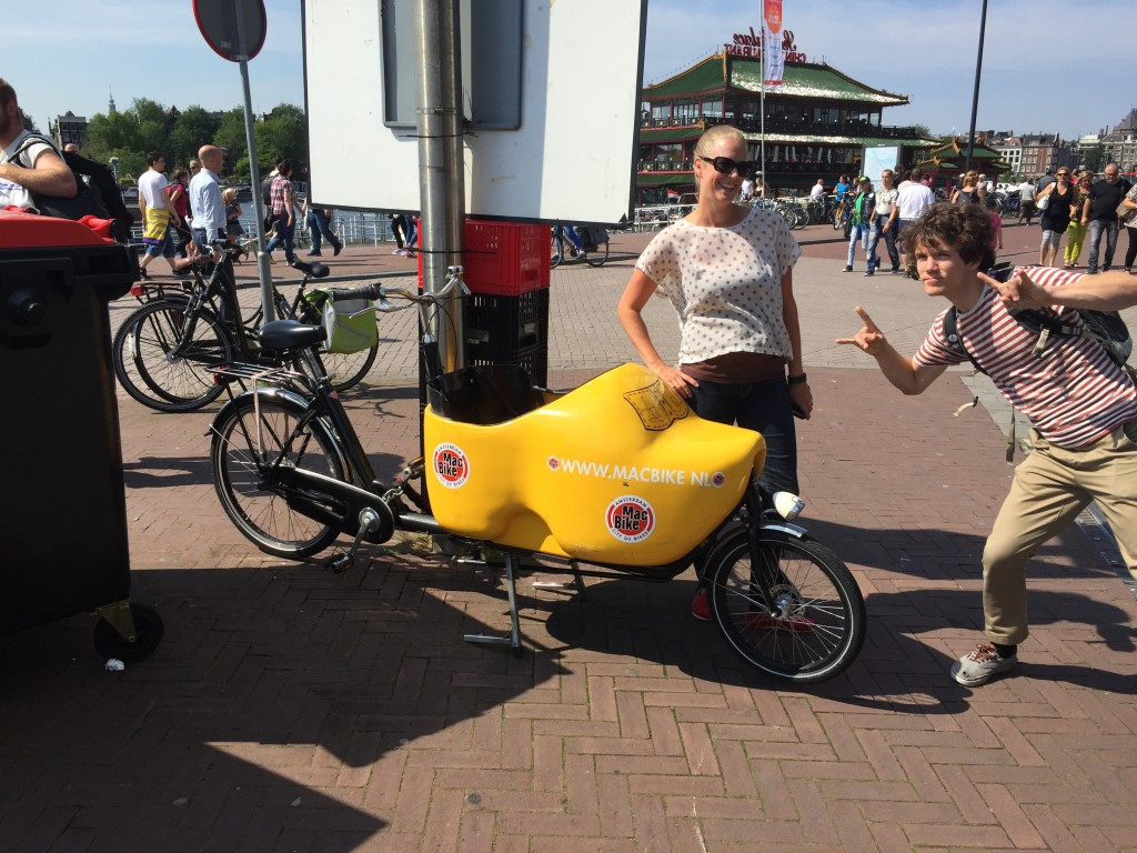 Wooden Shoe Bike in Amsterdam