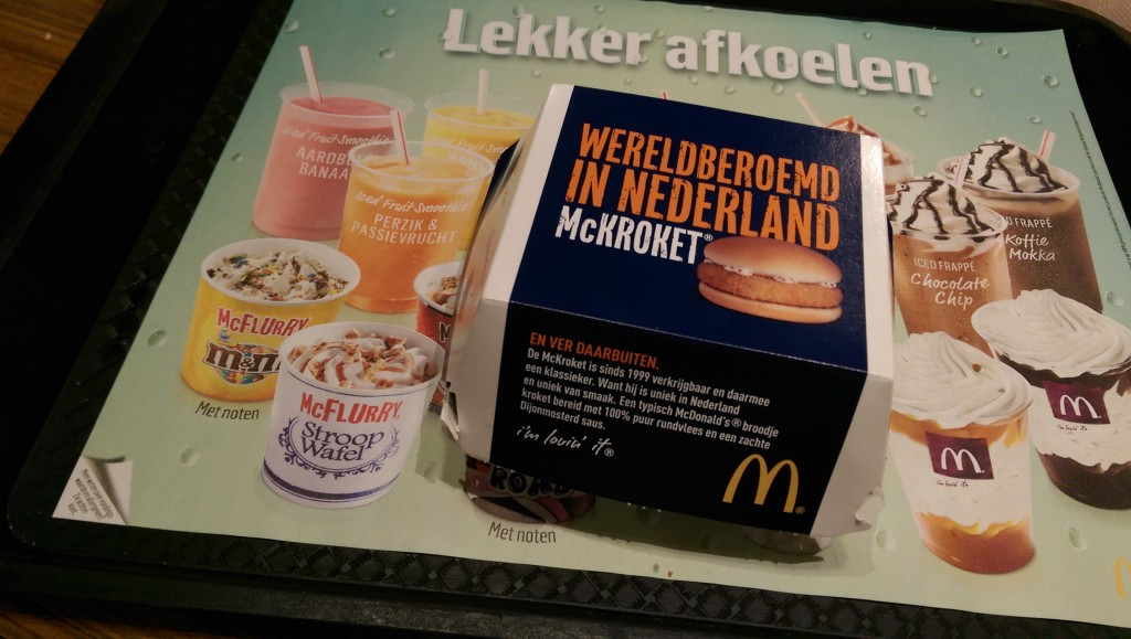 McDonald's Menu in Holland