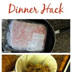 Ground beef dinner hack