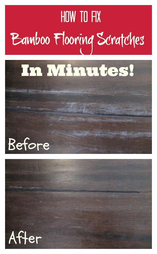 How to fix bamboo flooring scratches in minutes with one simple item!