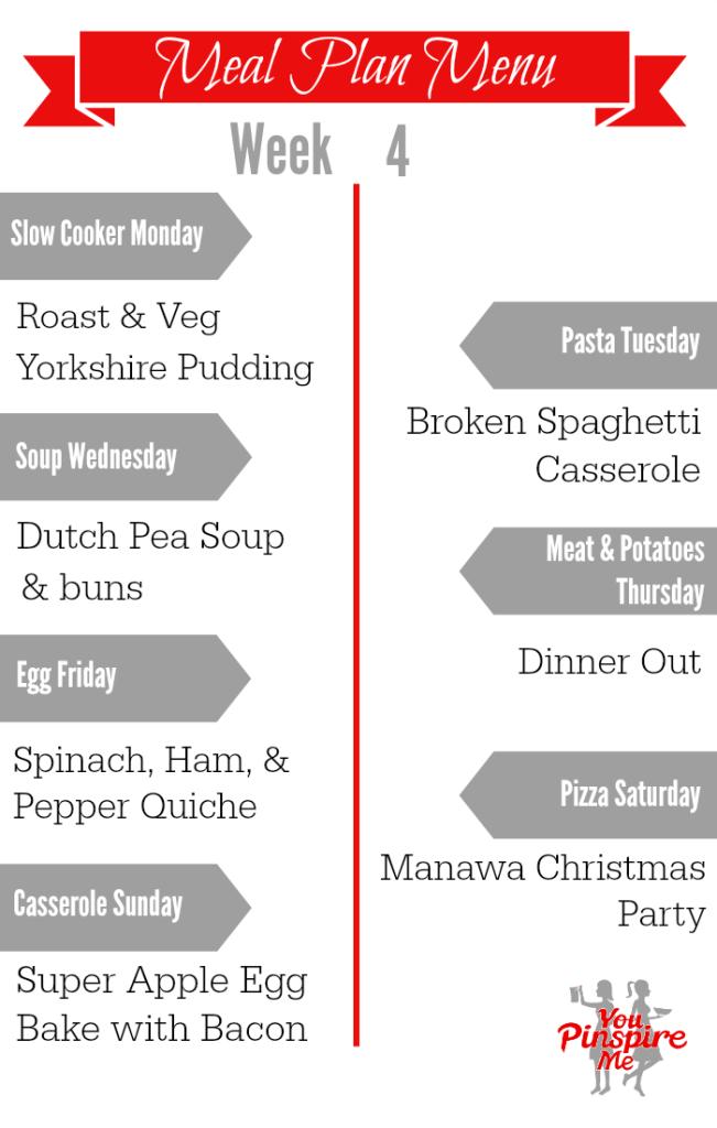Supper Ideas - Meal Planning Series, week 4