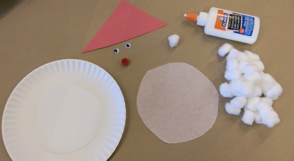Preschool Christmas Crafts: Paper Plate Santa