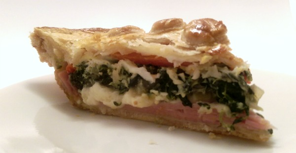 Ham and Spinach Quiche (Layered Mediterranean Pie)