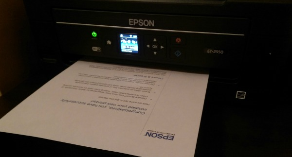 Epson EcoTank Wireless all in one inkjet printer
