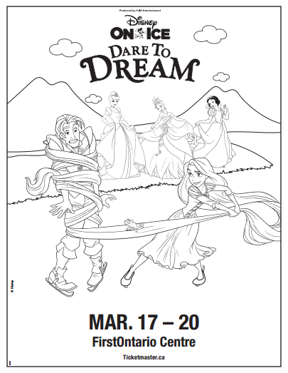 Dare to Dream Disney on Ice Colouring Sheet