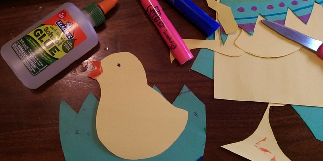 Easy Easter Craft: Hatching Chick