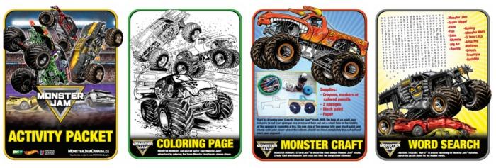 Monster Truck Activity Pack