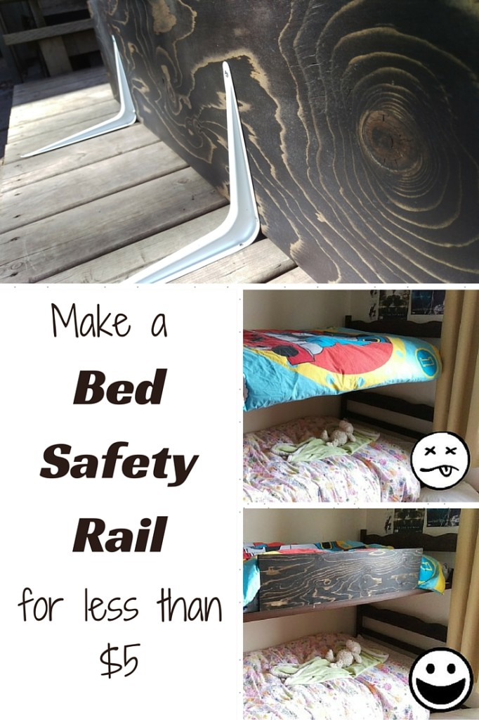 How to Make a Bed Safety Rail for LESS THAN $5!!