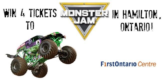 Win 4 Tickets to #MonsterJam in Hamilton!