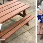 DIY Ana White Bigger Kids Picnic Table
