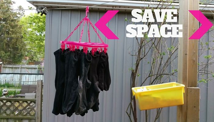 Save Space on the Laundry Line