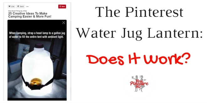 The Pinterest Instant Water Jug Lantern: Does it Work?