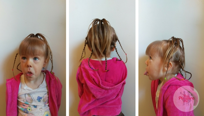 Crazy hair day style for girls!