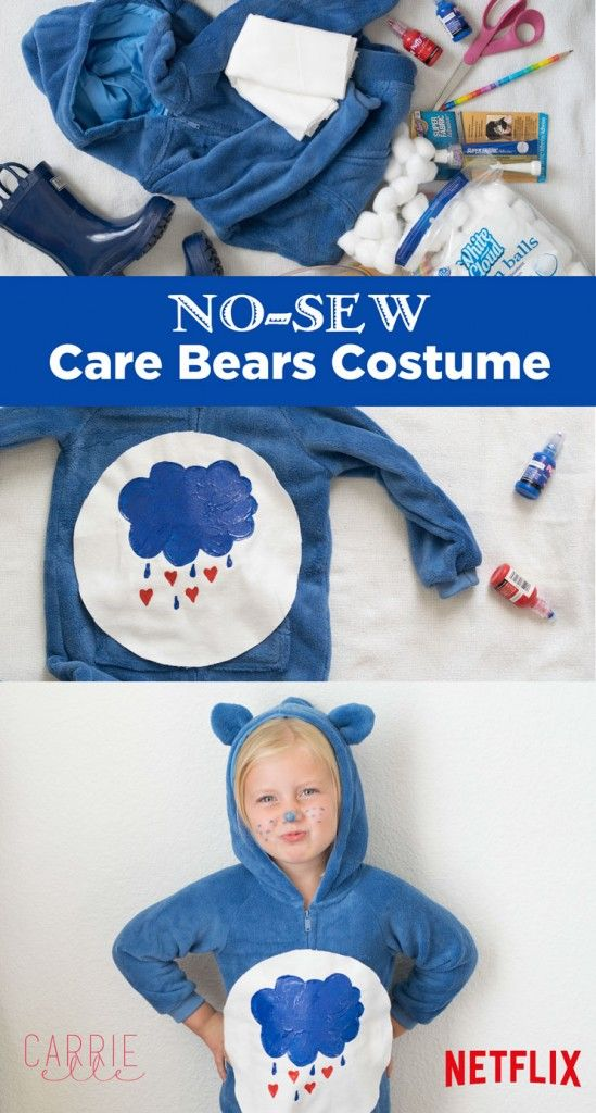 No-Sew Care Bears Costume - Last Minute Halloween Costume