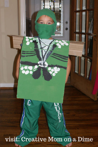 Easy Lego Ninjago Costume - Creative Mom on a Dime