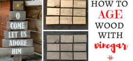 "How to ""Age"" Wood for Rustic Wood Signs"