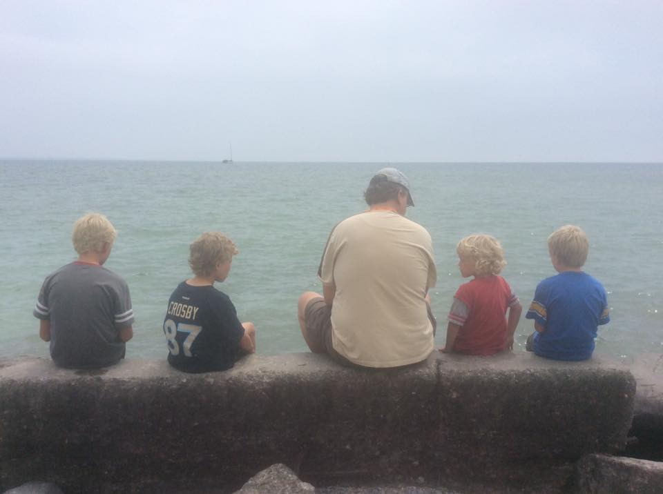 My busy life with four boys and a husband!