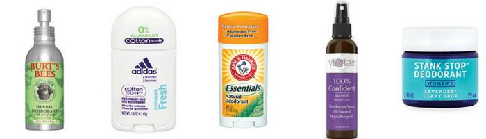Aluminum Free Deodorants